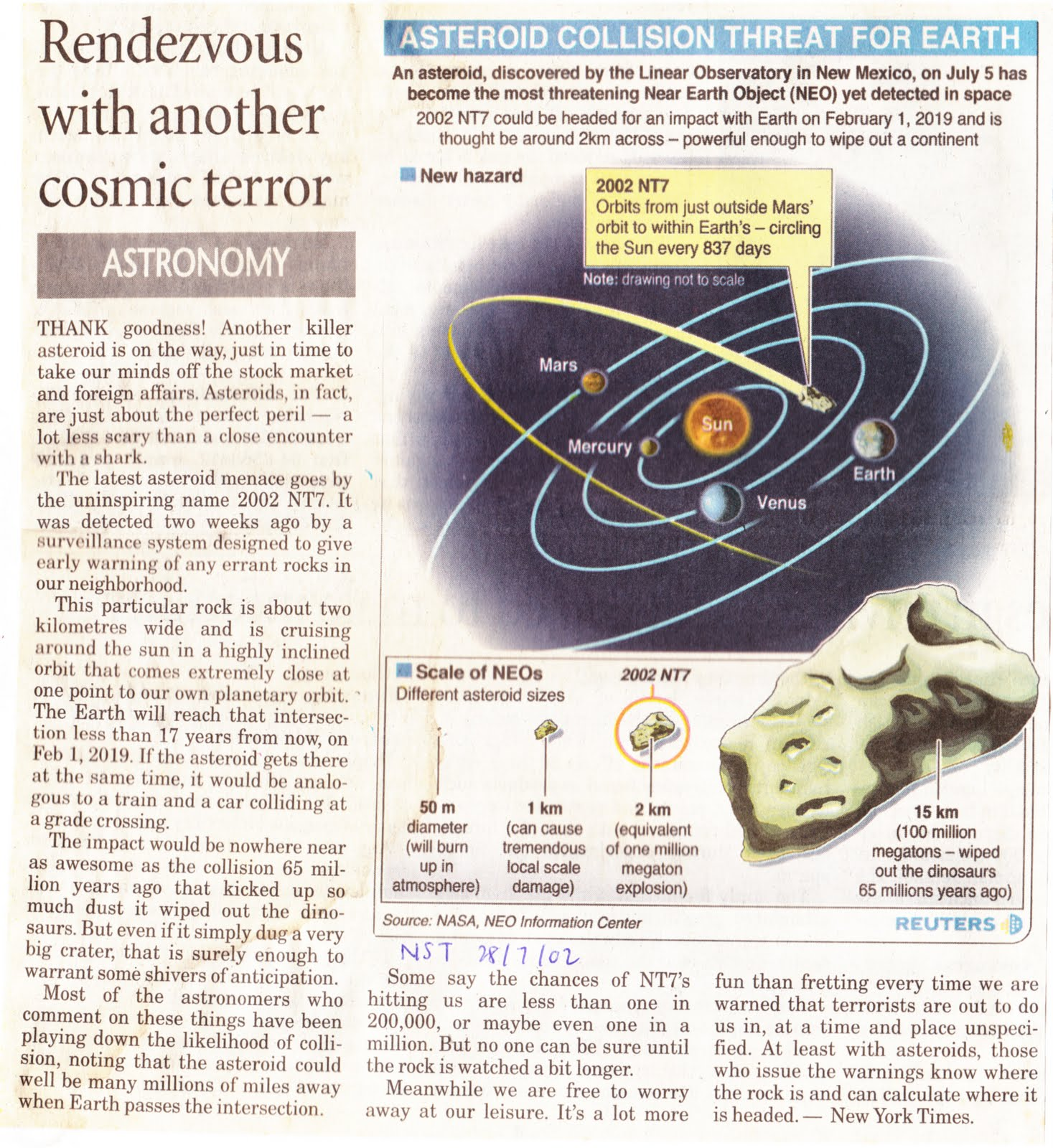 Graphic News: Planets & Asteriods | Space Science English