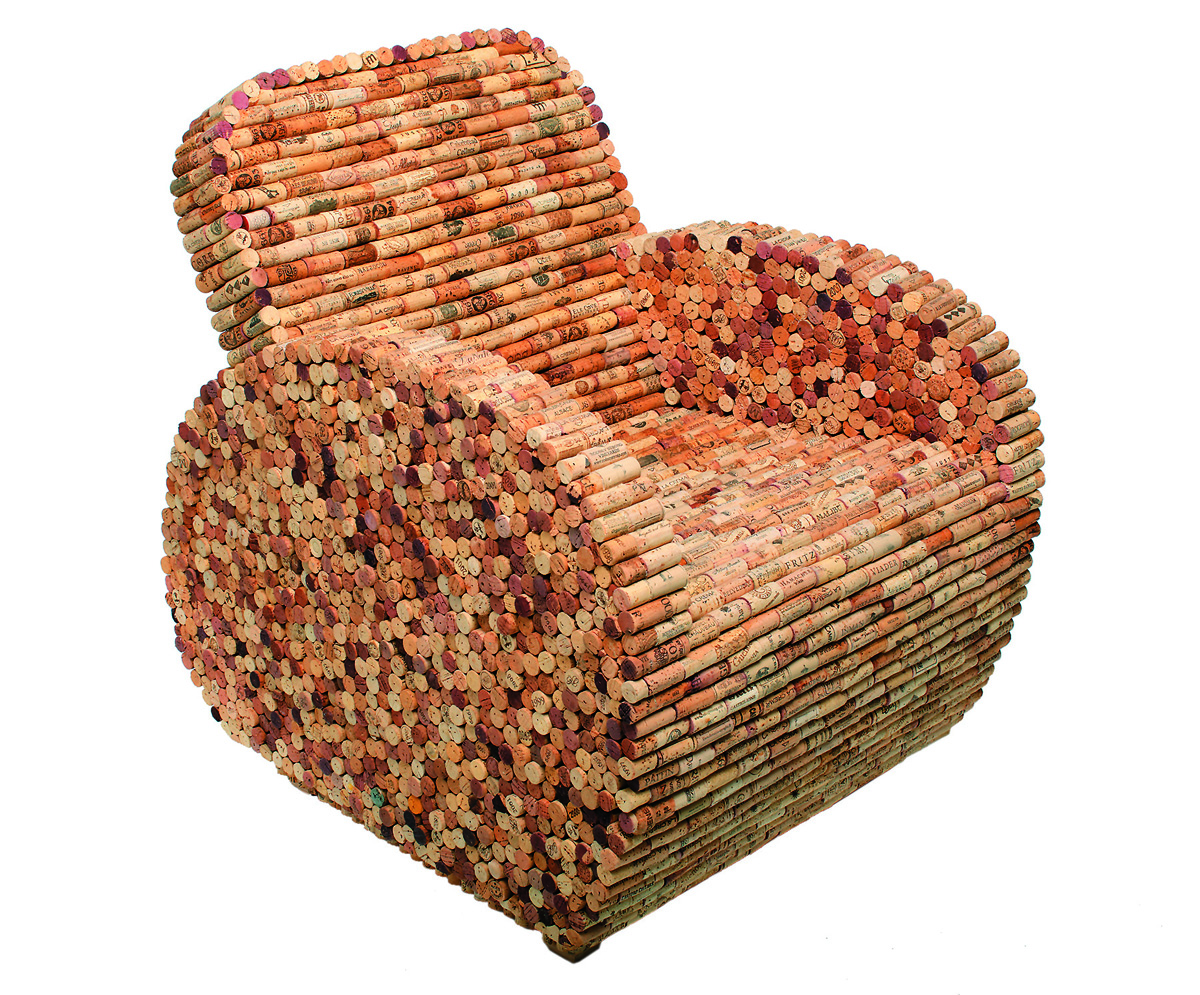 wine cork bottle chair the passionate maker