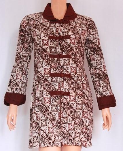 Model Baju Batik Kerja Atasan Muslim: Model Baju Batik Atasan Terbaru 2014