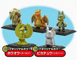 Pikachu silver, Ho-oh gold paint version Takara Tomy MONCOLLE GET