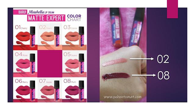 mirabella lip cream matte expert