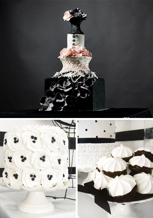 black and white wedding cake table rene design weddings events home decor fashion 11854
