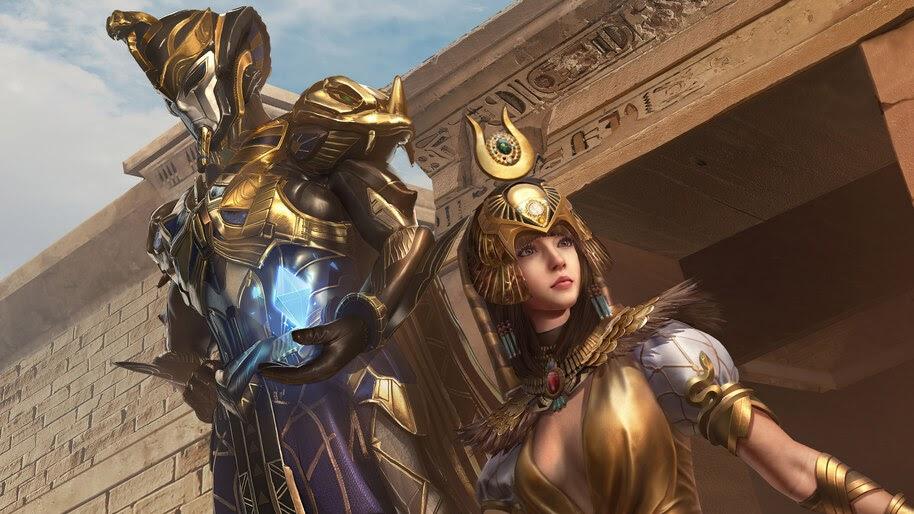 PUBG, Mobile, Golden Pharaoh X Suit, Set, 4K, #3.2679