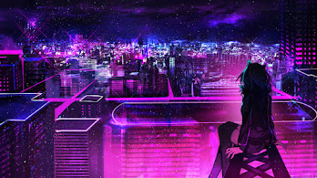Night, City, Anime, Scenery, Buildings, 4K, #6.2586