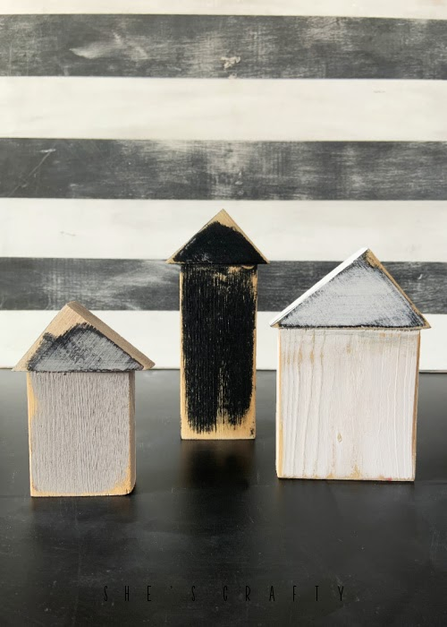 Scrap wood house group