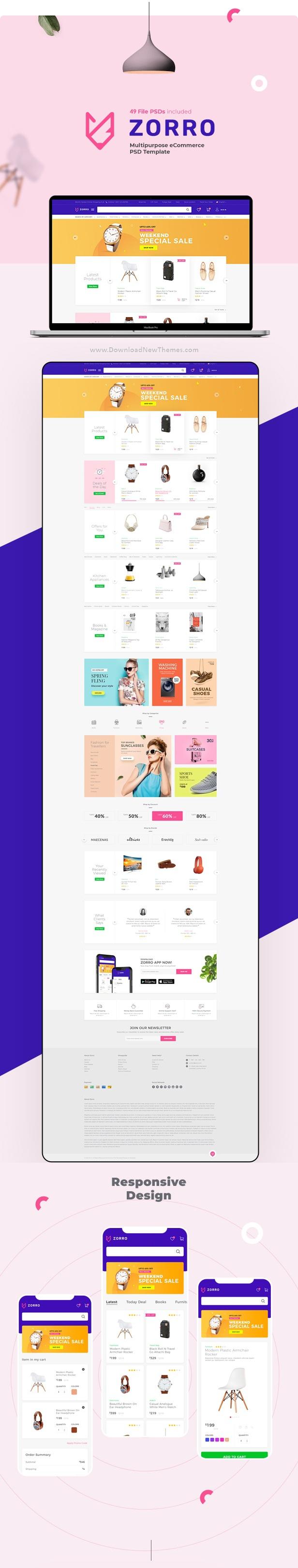 Multipurpose eCommerce PSD Template