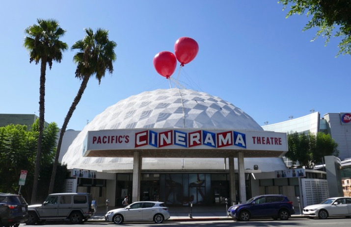 IT Chapter Two Cinerama Dome red balloons installation