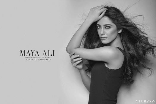 Maya Ali Latest Photoshoot in Black 2016