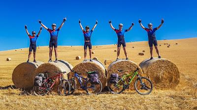 cycling via francigena