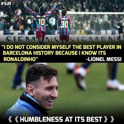Humblemess At its Best... #Messi #Ronaldinho
