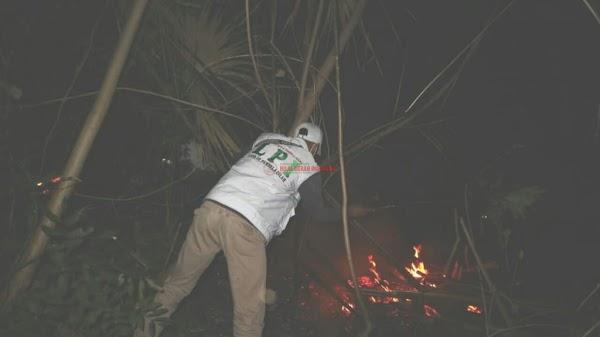 DPW FPI Poso Bantu Padamkan Kebakaran Lahan Seluas 28 Hektar