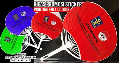 Souvenir Kipas Plastik Sticker Custom, Kipas Jepang Model Kerang