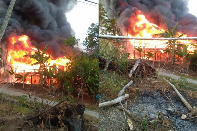 BREAKING NEWS: Kebakaran di Lappariaja, Rumah Panggung Ludes  - BONE TERKINI
