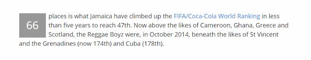 جامايكا تصعد للمركز 47 فى تصنيف فيفا