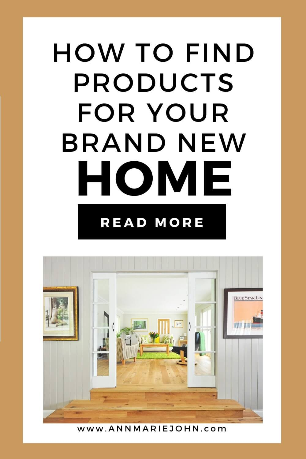 How to find products for your brand new home.