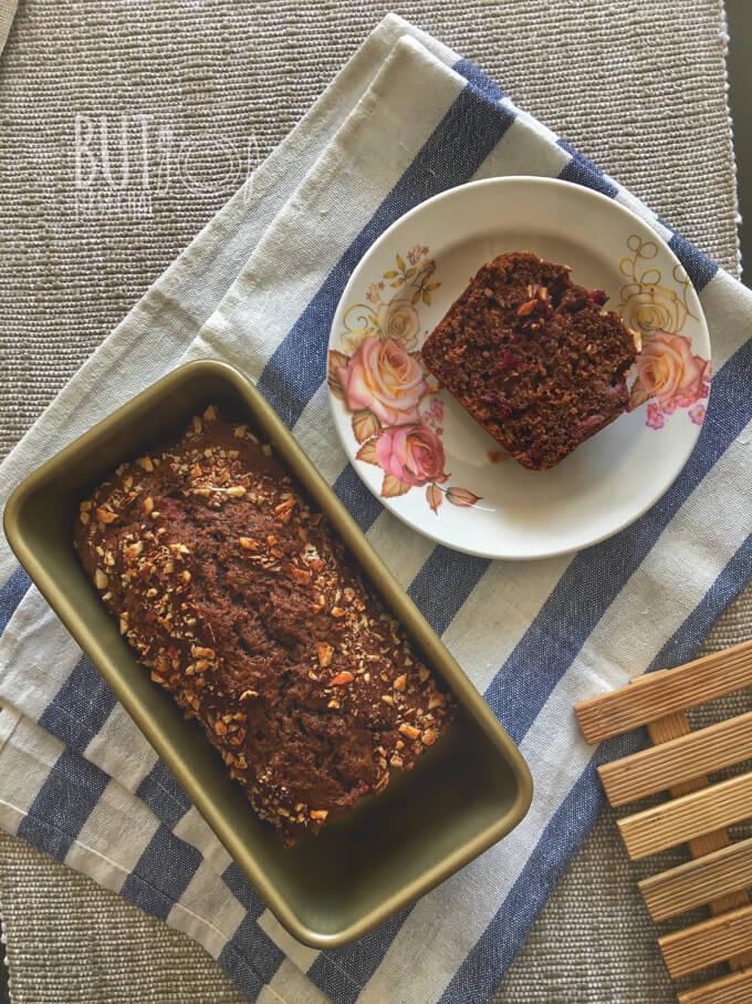 Chocolate Plum Banana Almond Bread
