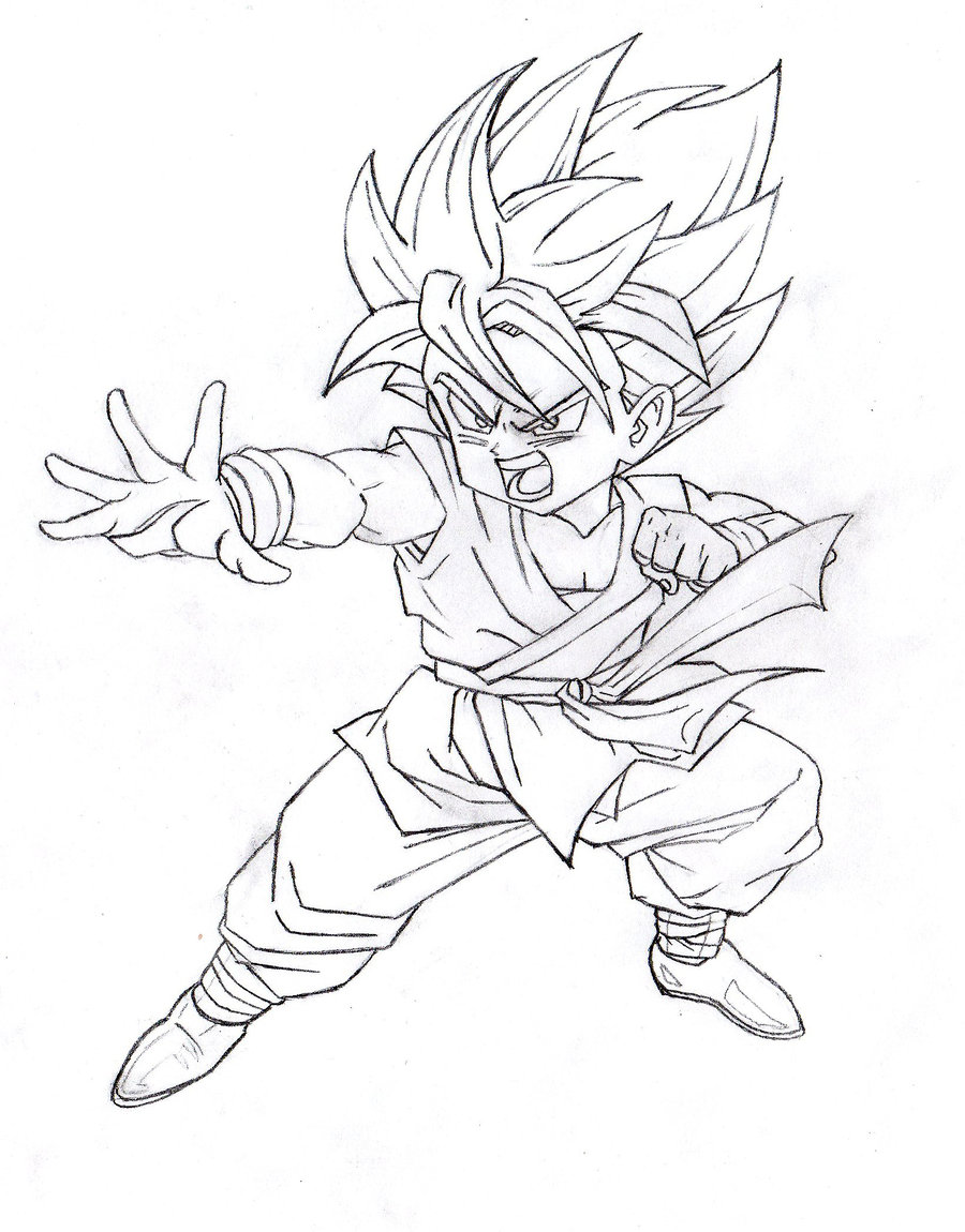 15 Desenhos Para Colorir Dragon Ball Z Goku Super Sayajin 4