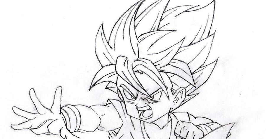 Dibujos Ideia Criativa: Desenho Dragon Ball Z Para Colorir