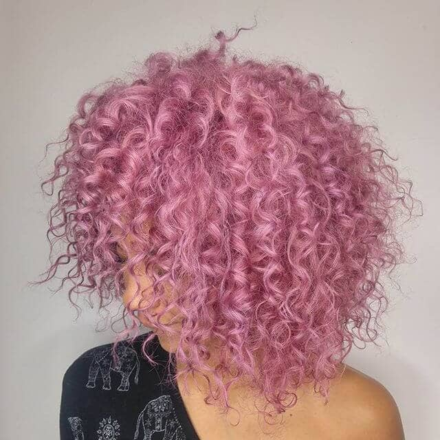 short curly hairstyles pink hair