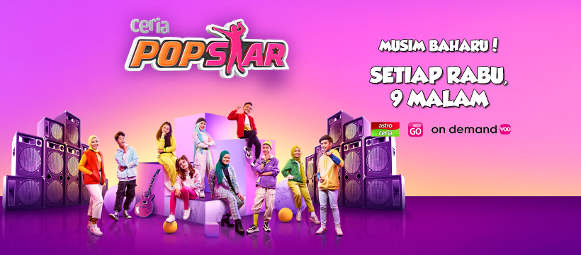 Saksikan Ceria Popstar 2021 Bermula 9 Jun Ini
