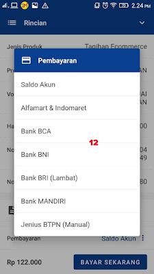 Pilih Metode Pembayaran Transfer Bank