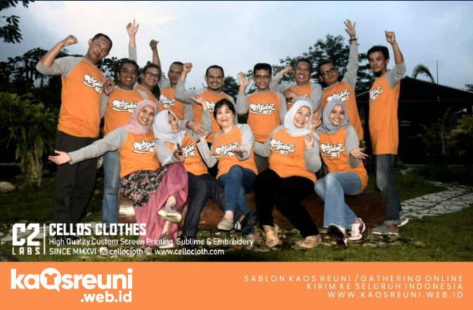 Sablon Kaos Reuni Raglan Orange Abu - Kaos Reuni Kaos Gathering