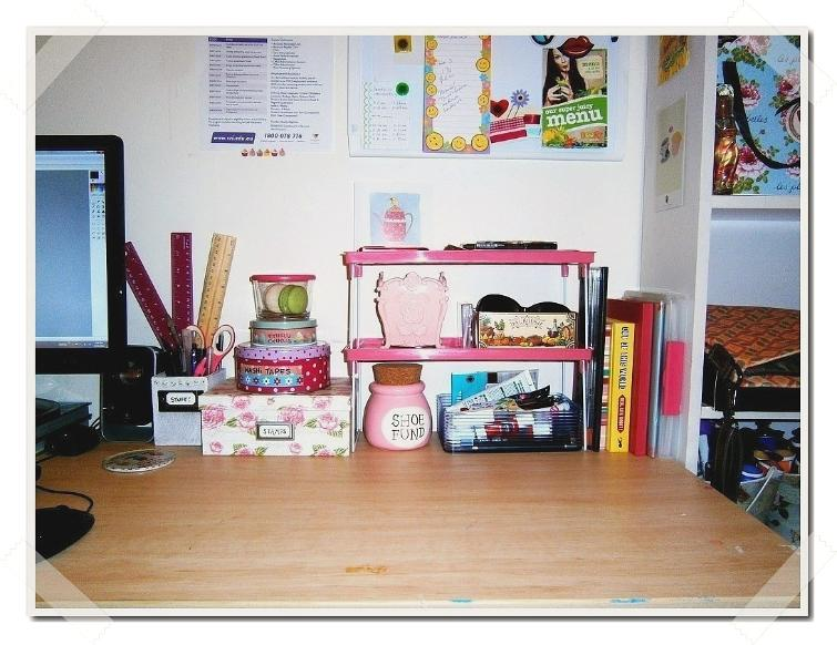 Creative Desk Space Organization