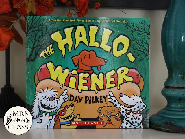 The Hallo-Wiener book study unit Halloween Common Core literacy companion activities and craftivity K-1