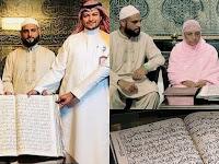 Masya Allah, Cette Grand-Mère Est En Train De Broder 30 Versets Dacrés Du Coran Depuis 30 Ans