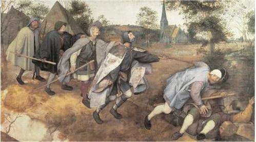 Parábola dos cegos, pintura de Peter Bruegel.