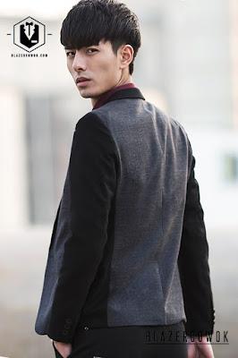 blazer cowok blazercowok.com jaket korean jas pria sk117 g