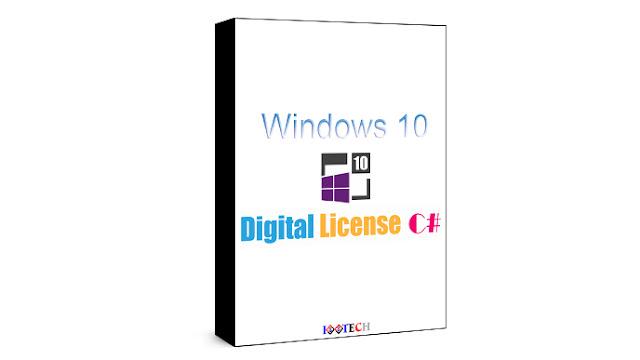 تحميل اداة تفعيل وتنشيط ويندوز Windows 10 Digital License C# v3.6