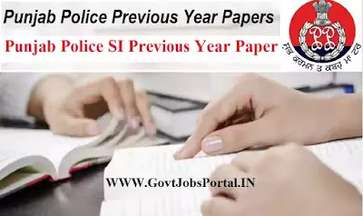 Punjab Police SI previous Year Paper