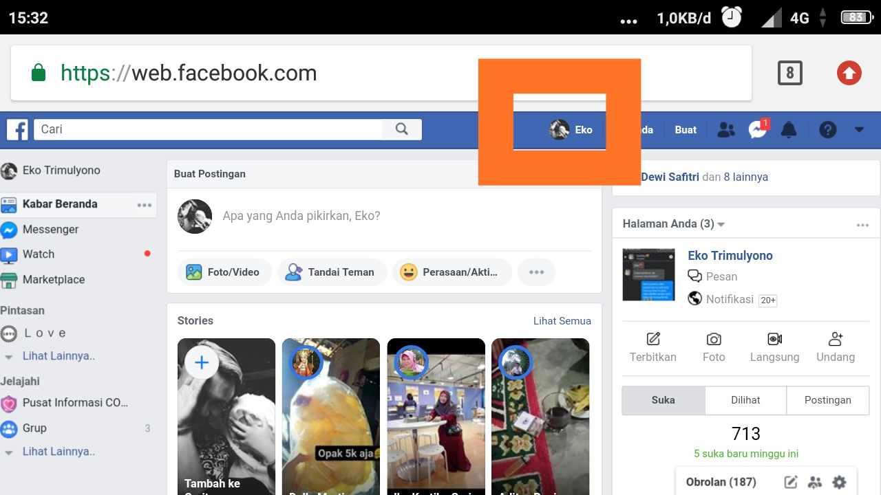 Id facebook itu yang mana?