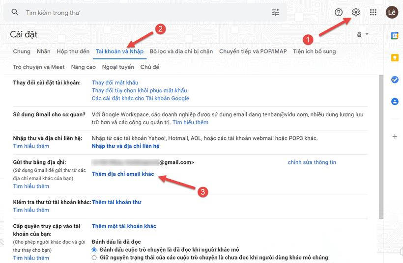 Cách thêm một email khác vào Gmail