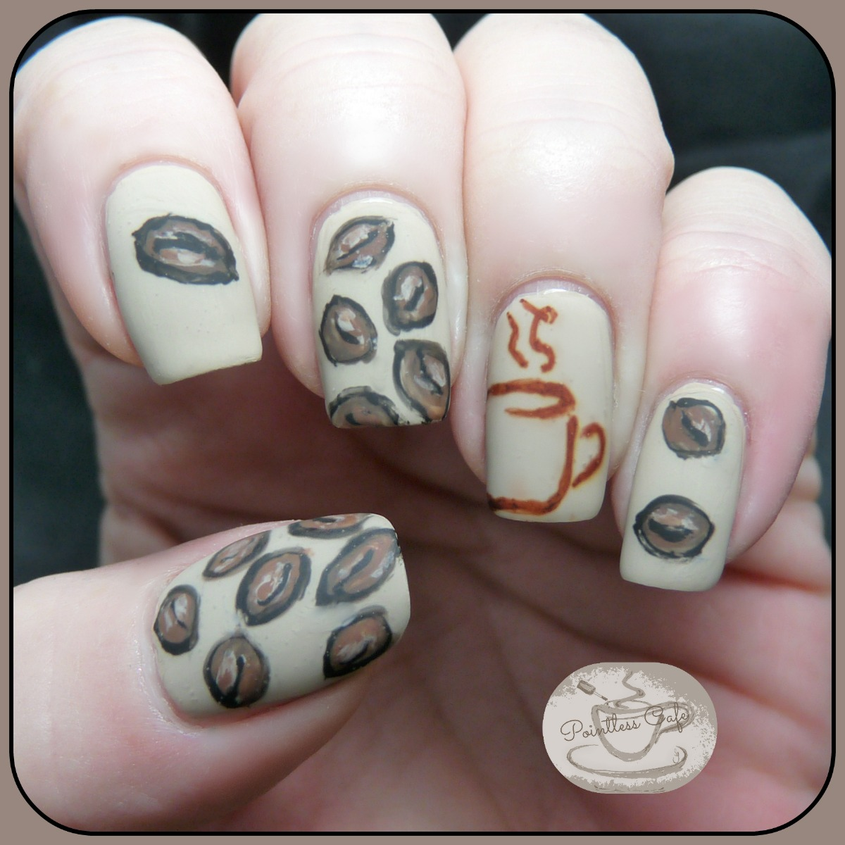 Coffee Art Nails The Digit Al Dozen Does Thankfulness Day 3 Coffee