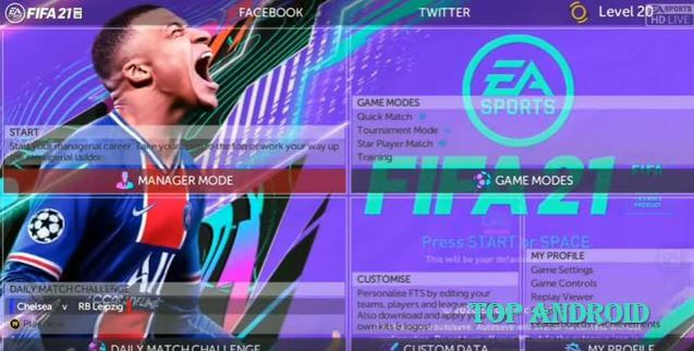 FTS 21 Mod FIFA 21 Android Apk Obb Data Download Offline