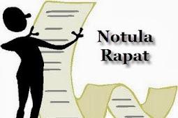 Contoh Notula Rapat