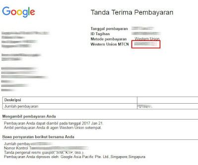 Cara mengetahui MTCN google adsense terbaru
