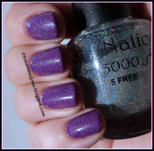 """Morgan Taylor """"Just Me And My Piano"""" topped with NailNation3000 """"Glimmering Hope"""""""