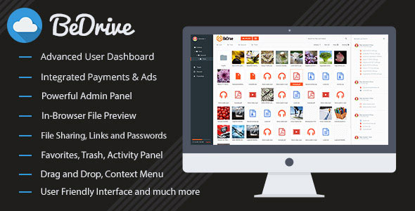 BeDrive v1.4 - File Sharing and Cloud Storage