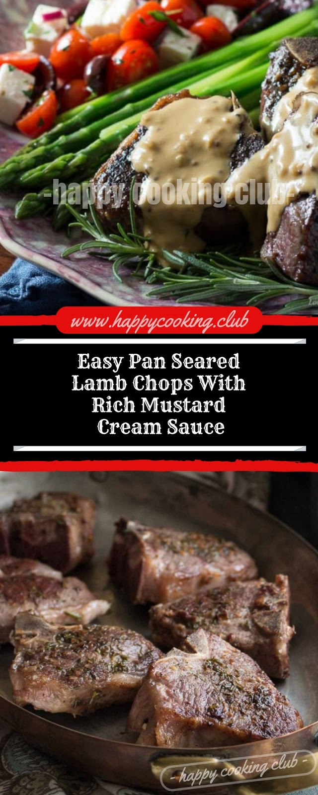 Easy Pan Seared Lamb Chops With Rich Mustard Cream Sauce