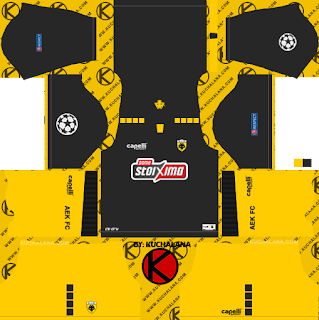AEK FC UCL Kits 2018/2019 - Dream League Soccer