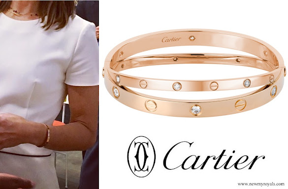 Crown Princess Mary Cartier Love Diamond Bracelet