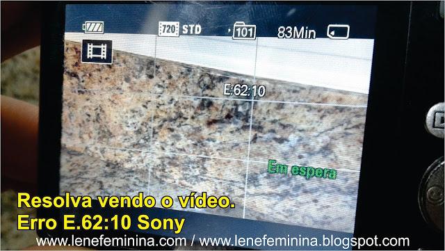 erro E 62 10 Sony