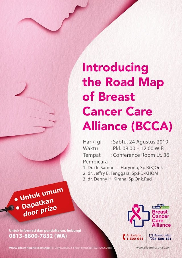 """Seminar Awam *""""Introducing the Road Map of Breast Cancer Care Alliance (BCCA)"""""""