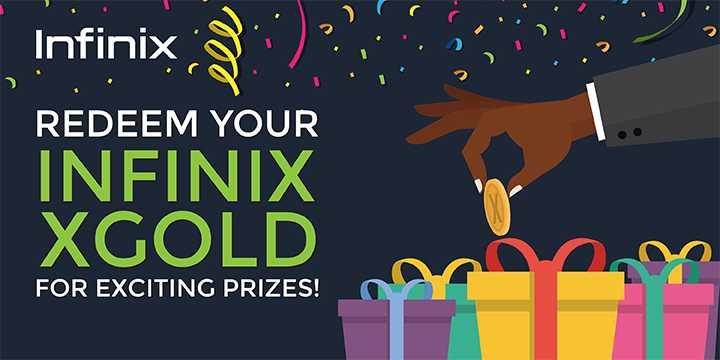 How to redeem your accumulated Infinix XGold.
