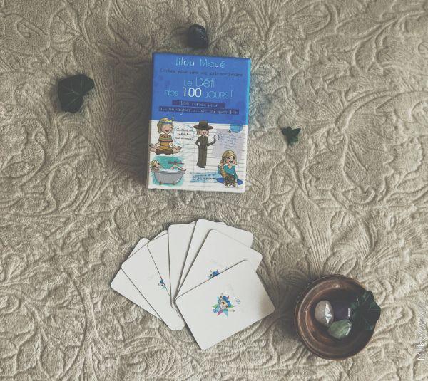 100 cartes du Défi des 100 jours de Lilou Macé aux éditions Trédaniel