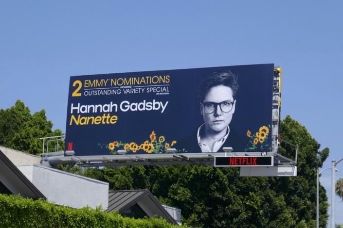 Hannah Gadsby Nanette Emmy nominee billboard