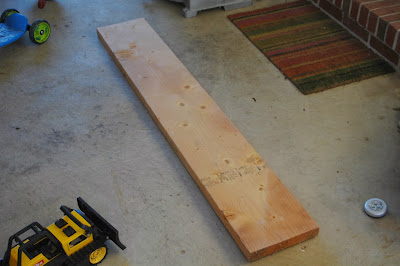 Measure and cut board for shelf